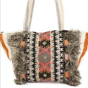 Raga beaded tote bag
